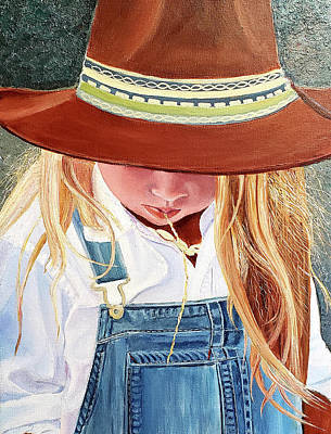 Painting - A Real Cowgirl by JoeRay Kelley