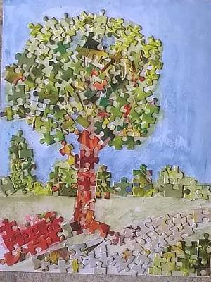 Mixed Media - A Real Puzzle by Patricia Voelz