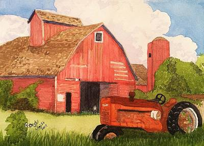 Painting - A Red Barn by Rand Swift