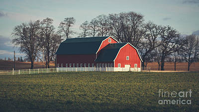 Photograph - A Red Barn by Viviana Nadowski