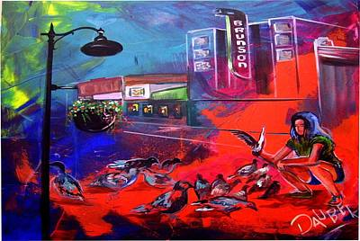 Painting - A Red Painting On Texas by Ken Pridgeon