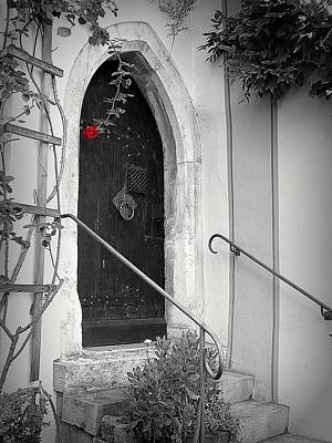 Photograph - A Red Rose Welcome by Lori Seaman