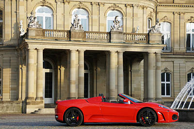 A Red Sports Car From Maranello  Art Print by Yven Dienst