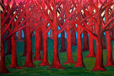 A Red Wood - Sold Art Print by Paul Anderson