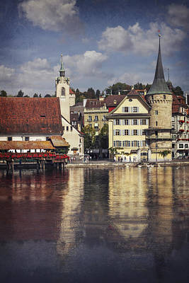 Historic Bridge Photograph - A Reflection Of Lucerne by Carol Japp