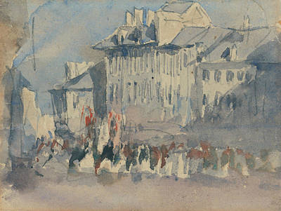 Birmingham Painting - A Religious Procession by David Cox