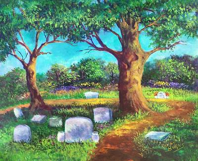 Art Print featuring the painting A Remembrance by Randol Burns
