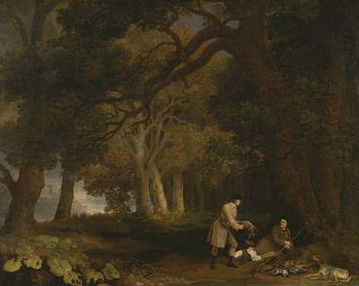 Painting - A Repose After Shooting by George Stubbs
