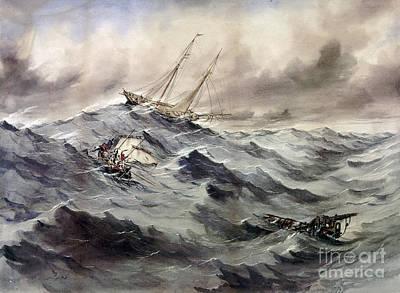 A Rescue At Sea, C1862 Art Print