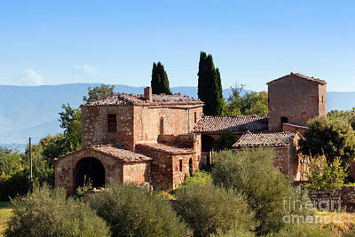 House Photograph - A Residence In Tuscany, Italy. Tuscan Farm by Michal Bednarek