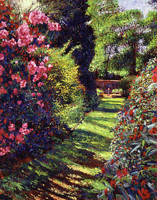 Impressionism Paintings - A Rhododendron Stroll by David Lloyd Glover