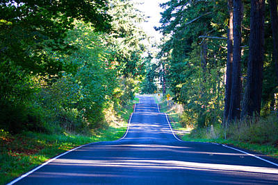Photograph - A Ribbon Of A Road - Blue Road - Highway by Marie Jamieson