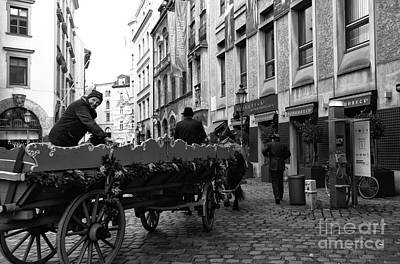 Horse And Wagon Photograph - A Ride In Munich by John Rizzuto