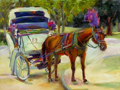 Painting - A Ride Through Central Park by Chris Brandley