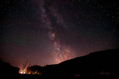 Montana Photograph - A Ride Under Montana's Milky Way by Renee Sullivan