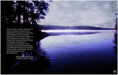 Photograph - A Ripple Of Hope Bobby Kennedy Silhouette Edition by Wayne King
