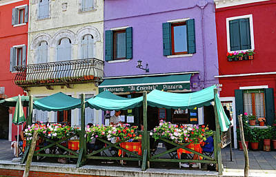 Photograph - A Ristorante On The Island Of Burano, Italy by Richard Rosenshein