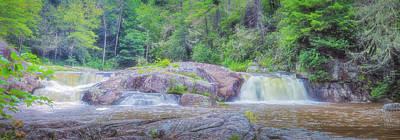 Photograph - A River Flows Panorama by David Cote
