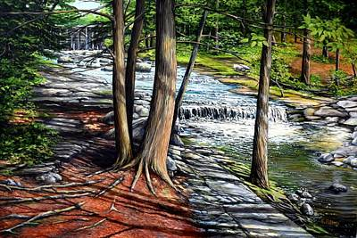 Painting - Vaughan's Brook, Hallowell, Maine by Eileen Patten Oliver
