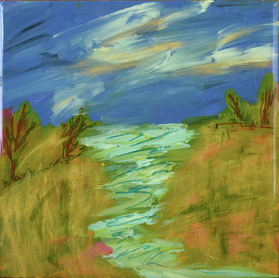 Painting - A River Runs Through It by Paulette B Wright
