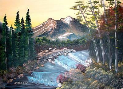 A River Runs Through It Art Print by Sheldon Morgan