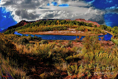 Photograph - A River Though Zion by Blake Richards