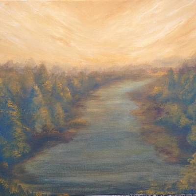 Painting - A River's Edge by T Fry-Green