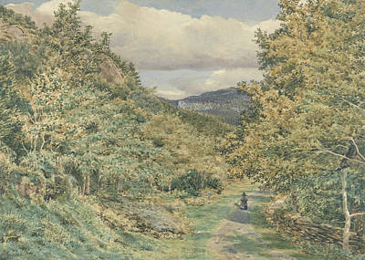 A Road Near Bettws Y Coed Art Print by George Price Boyce