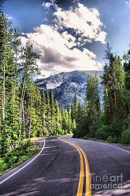 Photograph -  A Road To The Mountains by Jeff Swan