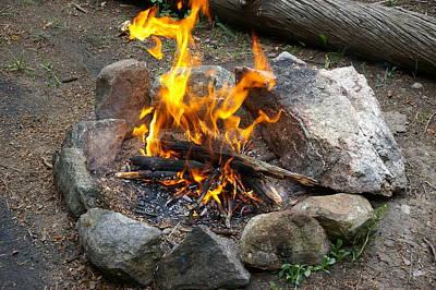 A Roaring Little Fire Original by Cynthia  Cox Cottam