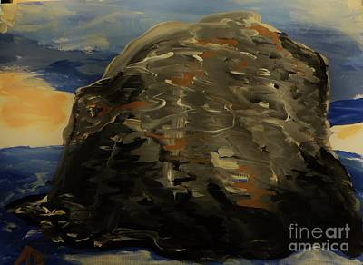 Painting - A Rock by Marie Bulger