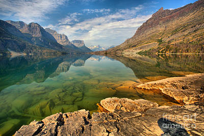 Photograph - A Rocky Bottom To Towering Peaks by Adam Jewell