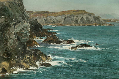 Sphere Painting - A Rocky Coast by Montague Dawson