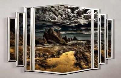 Digital Art - A Rocky Landscape by Mario Carini