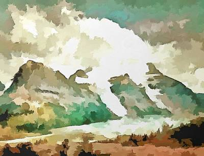 Fauvist Style Painting - A Rocky Moment by Mario Carini