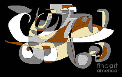 Digital Art - A Roller Skate by Nancy Kane Chapman