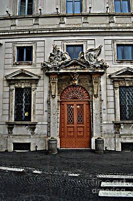Photograph - A Roman Door by Eric Liller