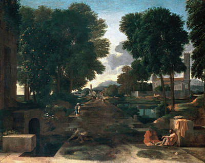 Pathway Painting - A Roman Road by Nicolas Poussin