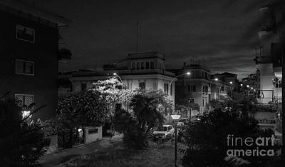 Photograph - A Roman Street At Night by Perry Rodriguez