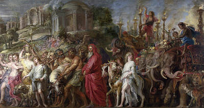 Lamb Painting - A Roman Triumph by Peter Paul Rubens