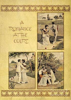A Romance At The Tennis Court Art Print by Heidi De Leeuw