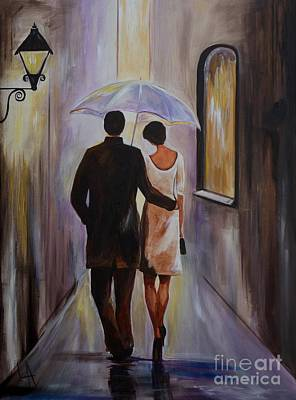 A Romantic Stroll Art Print