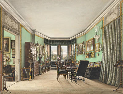 Painting - A Room In Schloss Buchwald by Friedrich Wilhelm Klose