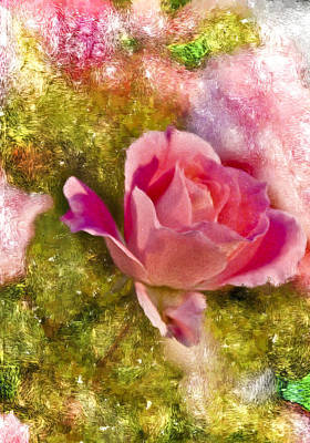 Digital Art - A Rose Among . . . by Ches Black