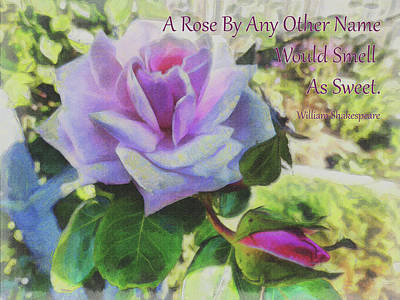Digital Art - A Rose By Any Other Name by Leslie Montgomery