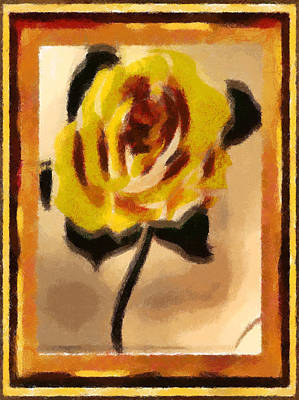 Digital Art - A Rose For Christmas by Mario Carini