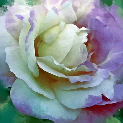 Digital Art - A Rose For Lady Edith by Patricia Strand