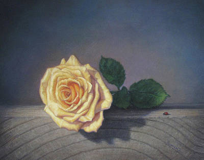 Pastel - A Rose For The Little Lady by Rita Romero
