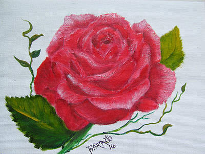 Painting - A Rose For You by Gloria E Barreto-Rodriguez