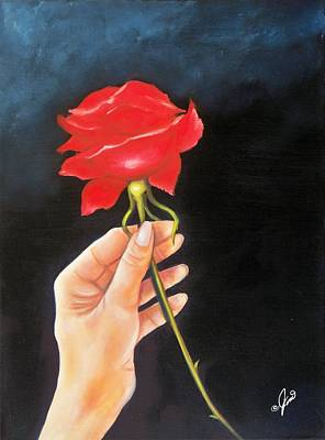 Painting - A Rose For You by Joni McPherson